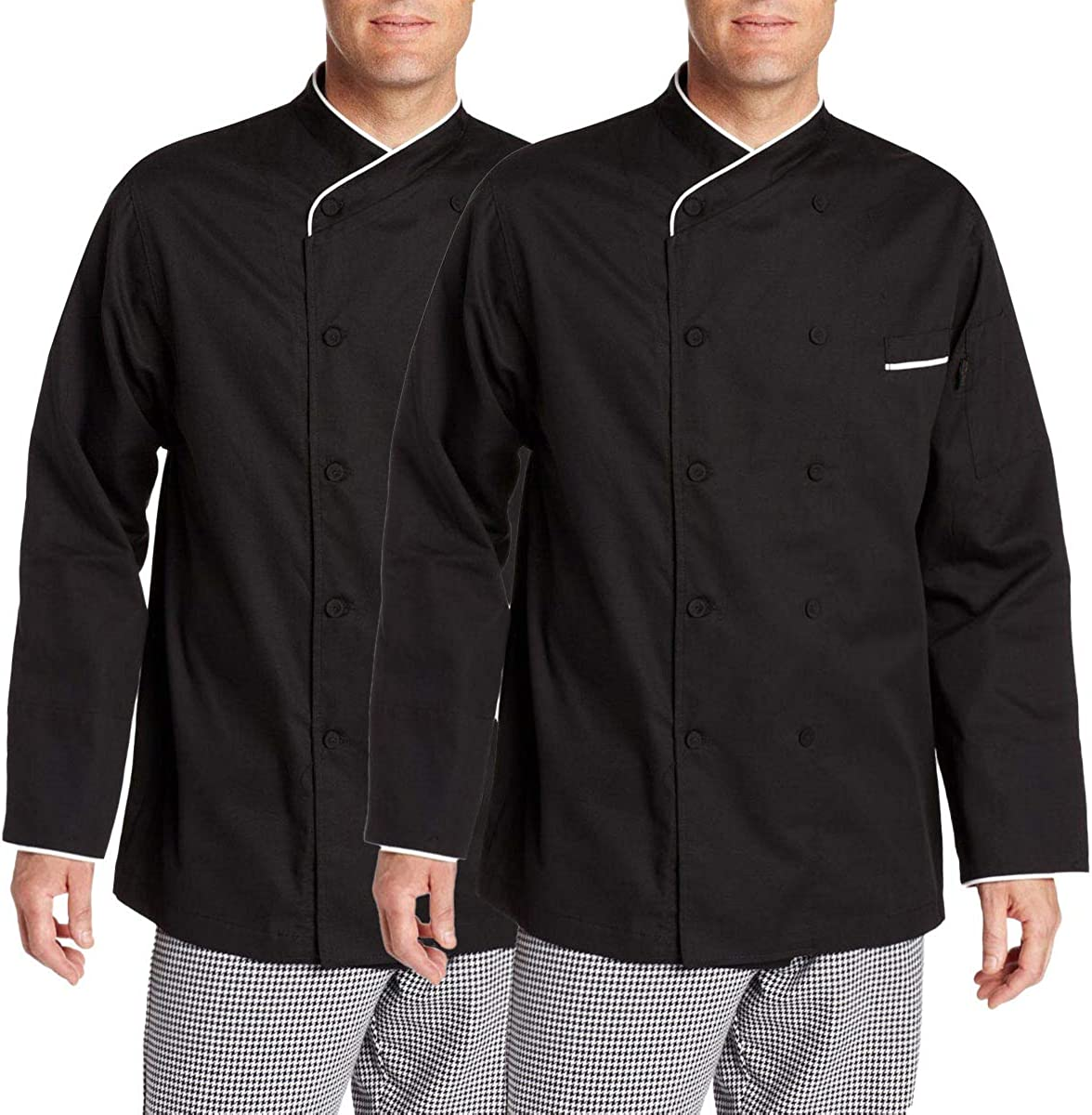 Chef Code 2-Pack 100% Egyptian Cotton Executive Chef Coat Unisex