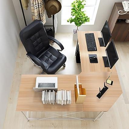 Soges 59u0026quot; X 59u0026quot; Large L Shaped Desk Computer Desk Corner Desk  Office