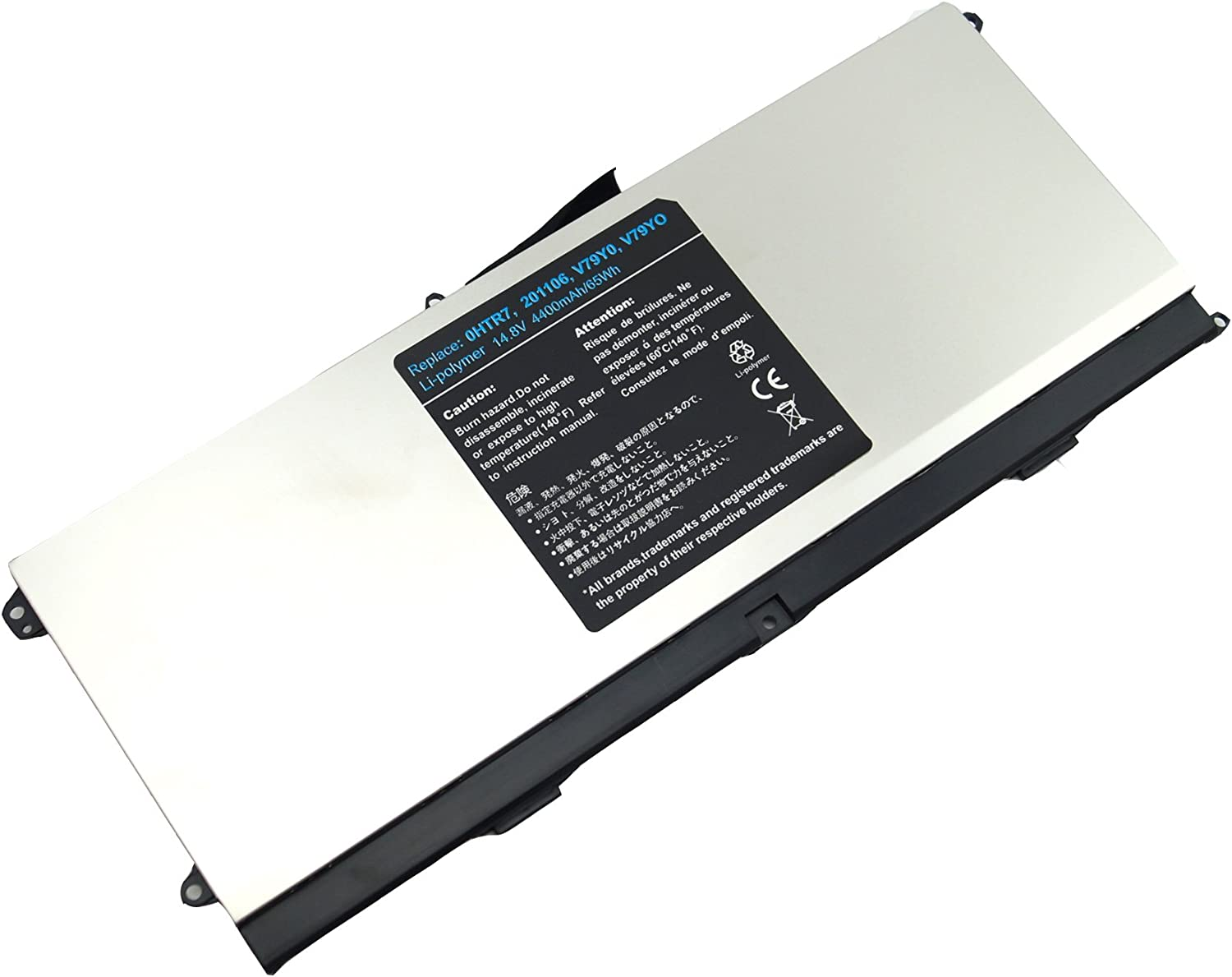 LQM 14.8V 4400mAh/65Wh New Laptop Battery for Dell XPS 15z L511Z,Compatible P/N:0HTR7 0NMV5C NMV5C 075WY2
