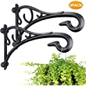 2-Pack Flowmist Hand Forged Hanging Plant Bracket