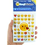 Emoji Pegatinas 19 hojas con las etiquetas engomadas del niño de las caras de Emojis del iPhone Facebook Twitter