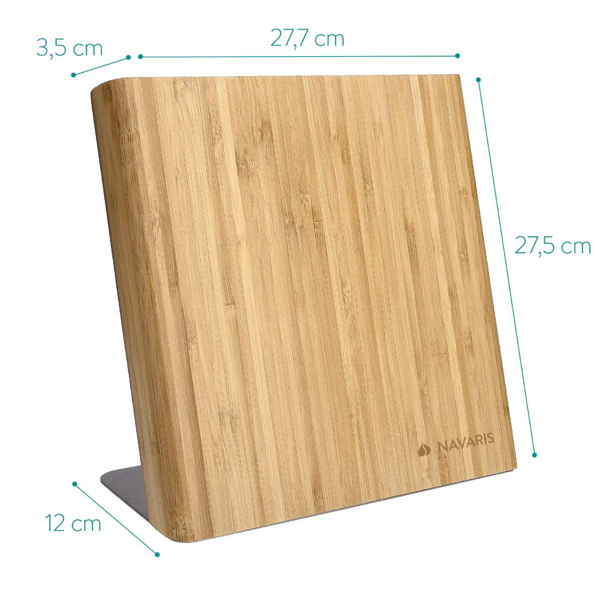 Compra Navaris Soporte magnético para Cuchillos - Bloque magnético de bambú para Utensilios de Cocina - Base magnética de Madera para Cuchillo de Damasco en ...