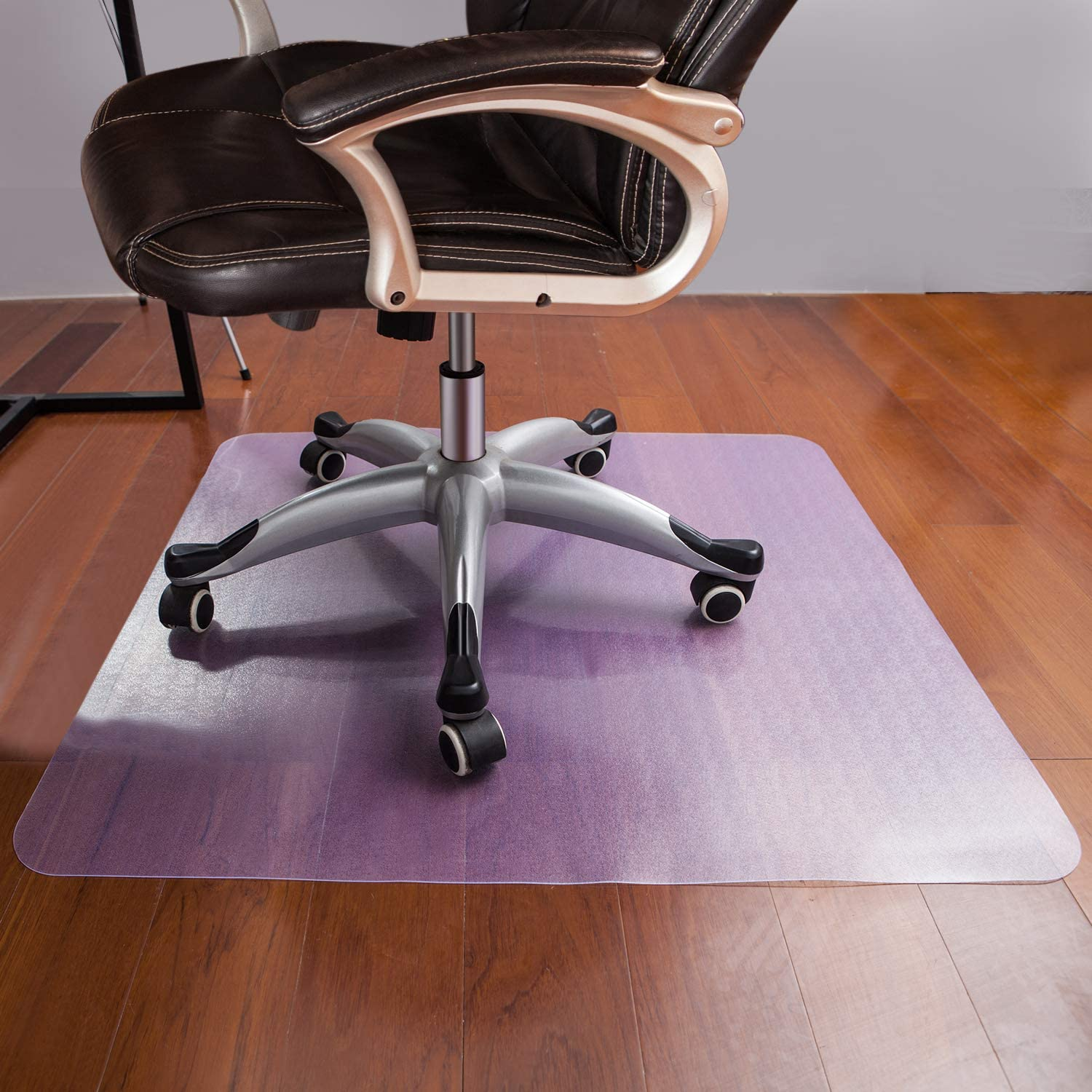 Komene Office Chair Mat 48''×40'' for Hardwood Floor,Non Toxic and BPA Free Clear Thick Mat