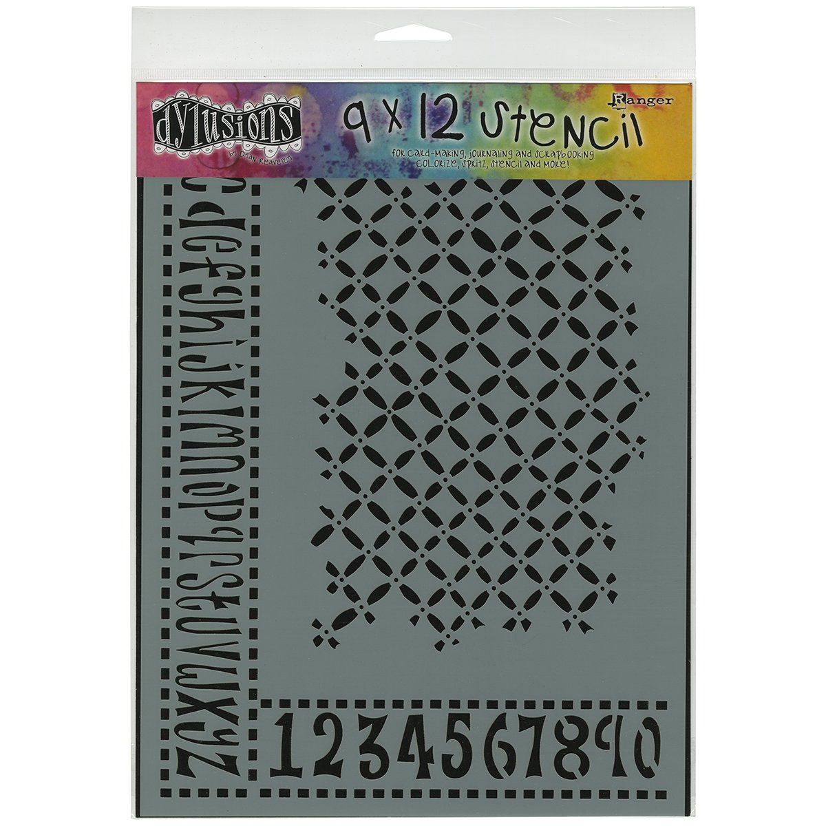 Ranger Dyan Reaveley's Dylusions Stencils, 9 by 12-Inch, Alphabet Border by Ranger