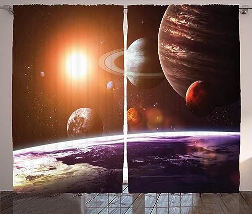 Ambesonne Galaxy Curtain
