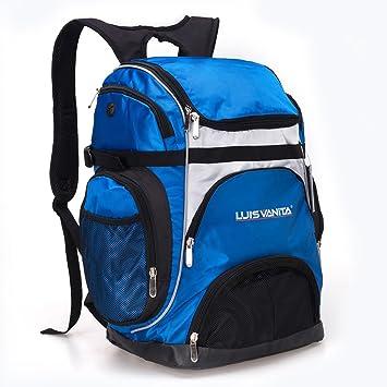 Portátil de gran capacidad al aire libre mochila cartucho de malla bolsa de deporte con bolsillo para gafas de natación de vbag (azul): Amazon.es: Deportes ...