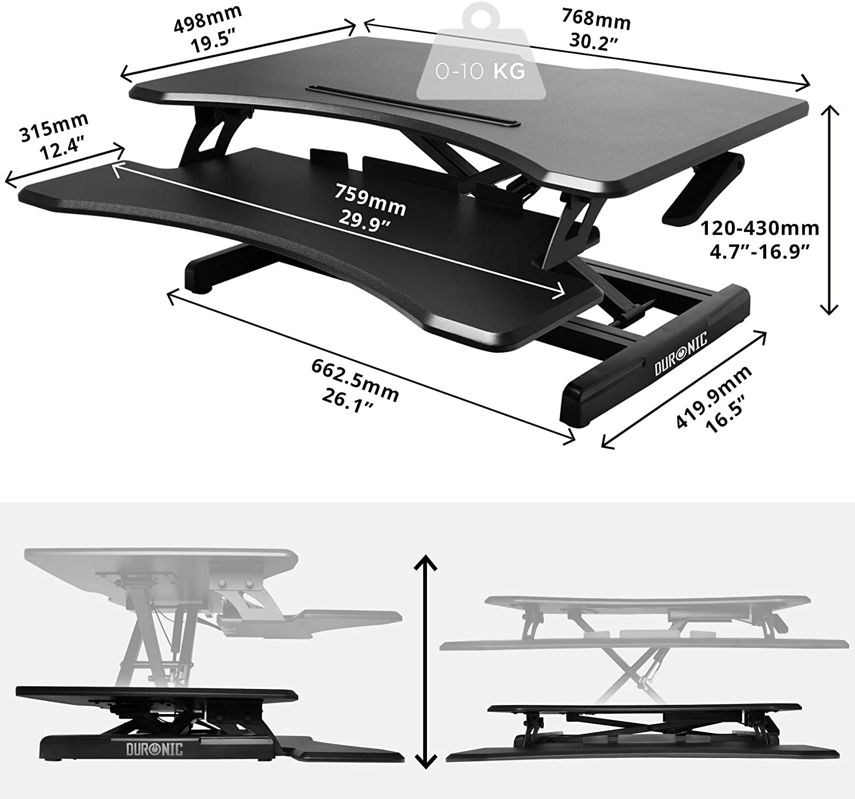 Duronic DM05D16 - Soporte de mesa para ordenador (altura ajustable ...