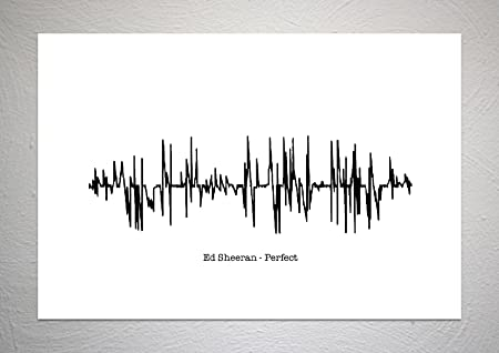 Ed sheeran perfect sound wave song art print a4 size amazon ed sheeran perfect sound wave song art print a4 size stopboris Images
