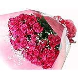 [ビズフラワー]【花束 バラ60本とかすみ草】薔薇 お祝い 誕生日 記念日 大切な日 還暦祝い BisesFlower