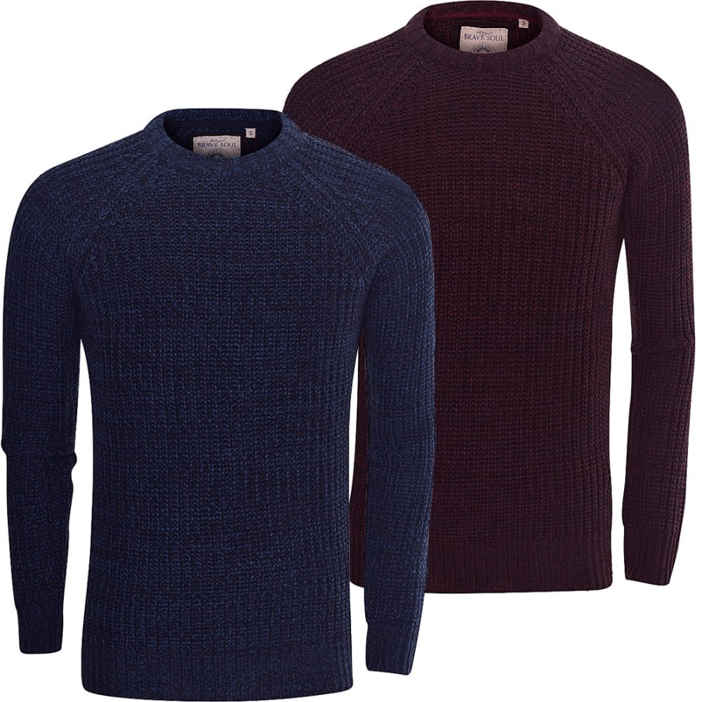 e3701133b924f8 Brave Soul Mens High Quality  Chunky Cable Knit  Jumper Pullover Winter  Sweater  Amazon.co.uk  Clothing