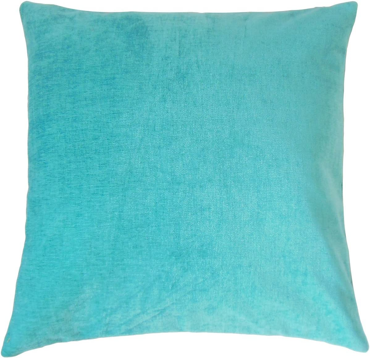The Pillow Collection Elior Solid Bedding Sham Turquoise Queen//20 x 30