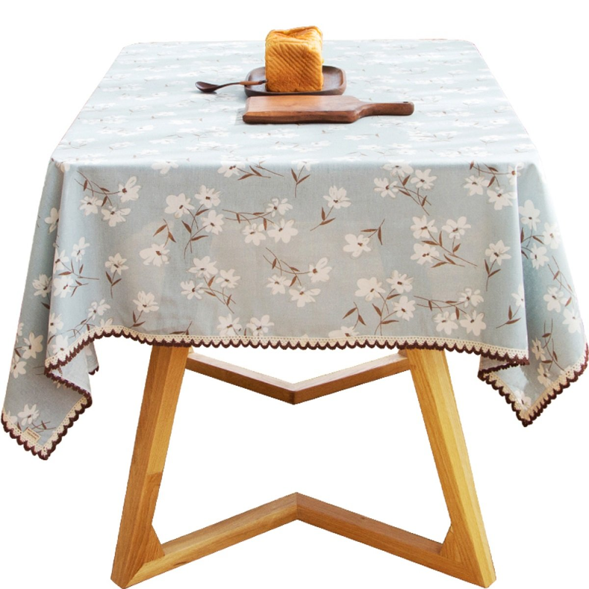 Web oficial DONG Mantel Paños de cocina cocina cocina Paño de tabla Paño de tela Paño de tabla Paño de mesa de té Planta rectangular Flores Decoración del hogar Mantel casero Algodón (azul) (Tamaño   140220cm (55.186.6in)) 100140cm (39.455.1in)  respuestas rápidas