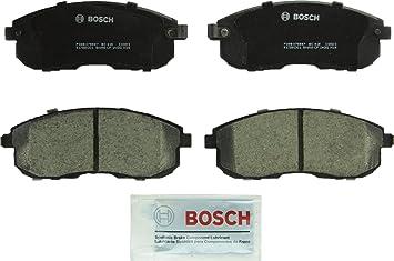 Amazon.com: Bosch BC815 QuietCast Premium Juego de pastillas de freno de  disco de cerámica para Infiniti G20, G35, I30; Nissan Altima, Cube, Maxima,  Sentra, 350Z, delantero: Automotive
