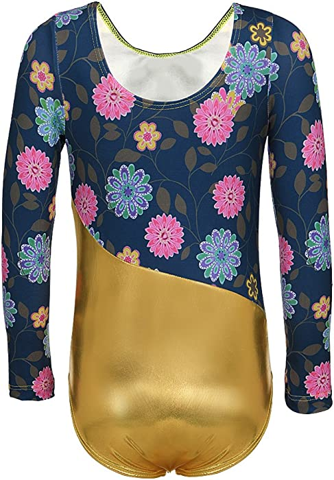 7e63987b1e7d DAXIANG One-Piece Long Sleeve Leotard for Girls Gymnastics Dance Ballet  Clothing 2-15 Y