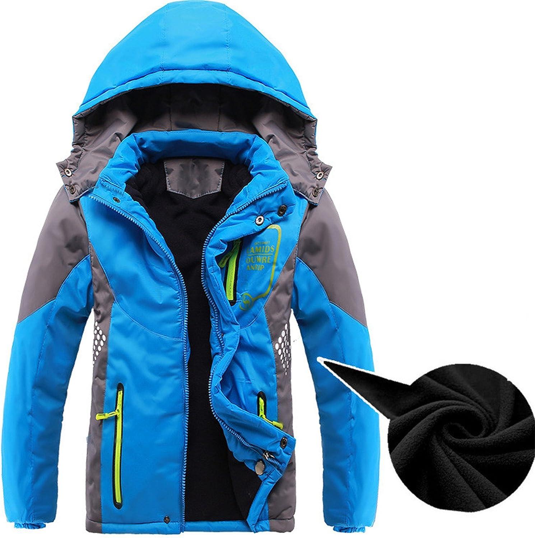 Mofgr Children Outerwear Warm Coat Sporty Kids Double-deck Waterproof Windproof Thicken Boys Girls Jackets
