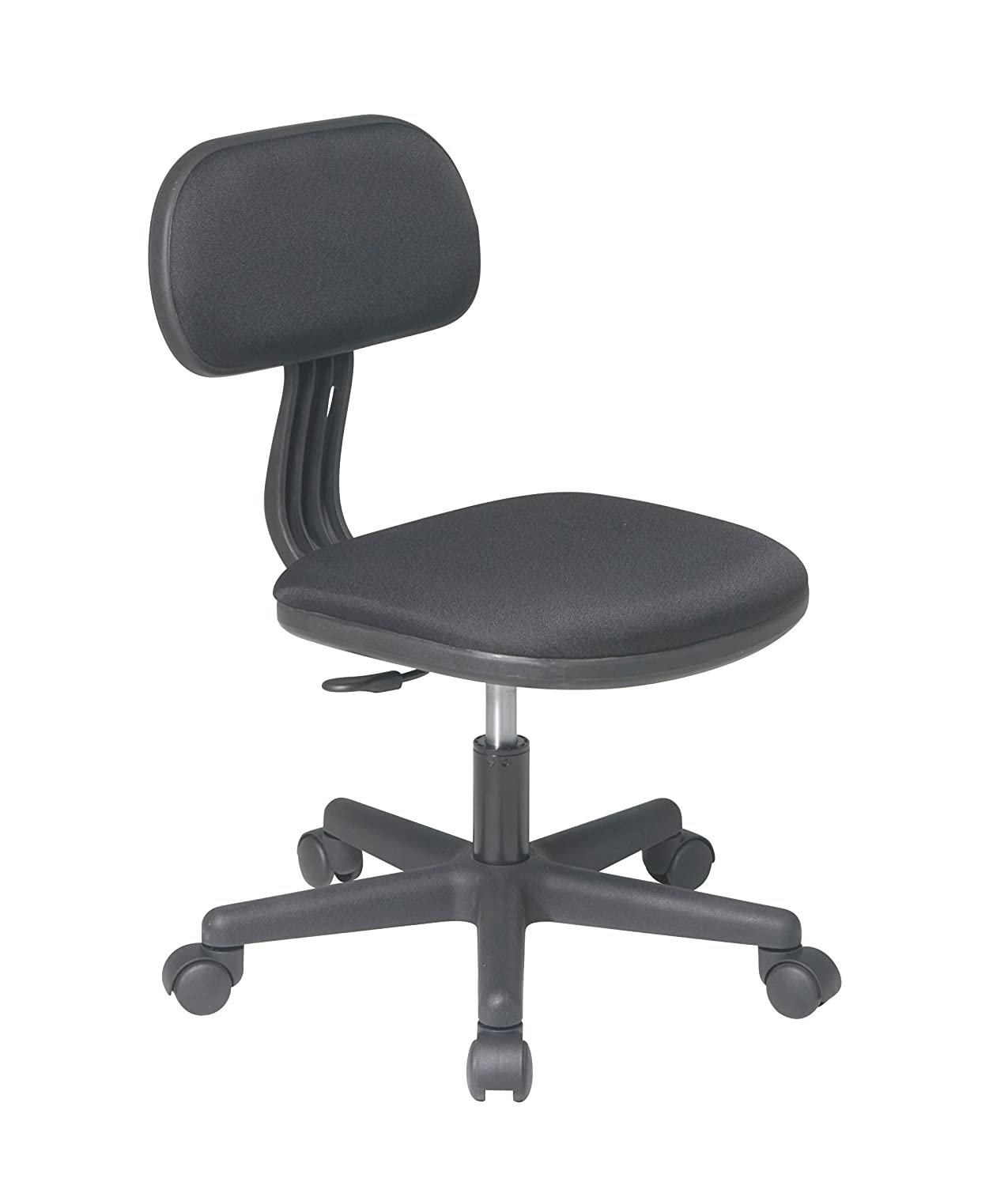 Amazon.com: Office Star One Touch Pneumatic Seat Height Adjustment Task  Chair, Black: Kitchen U0026 Dining