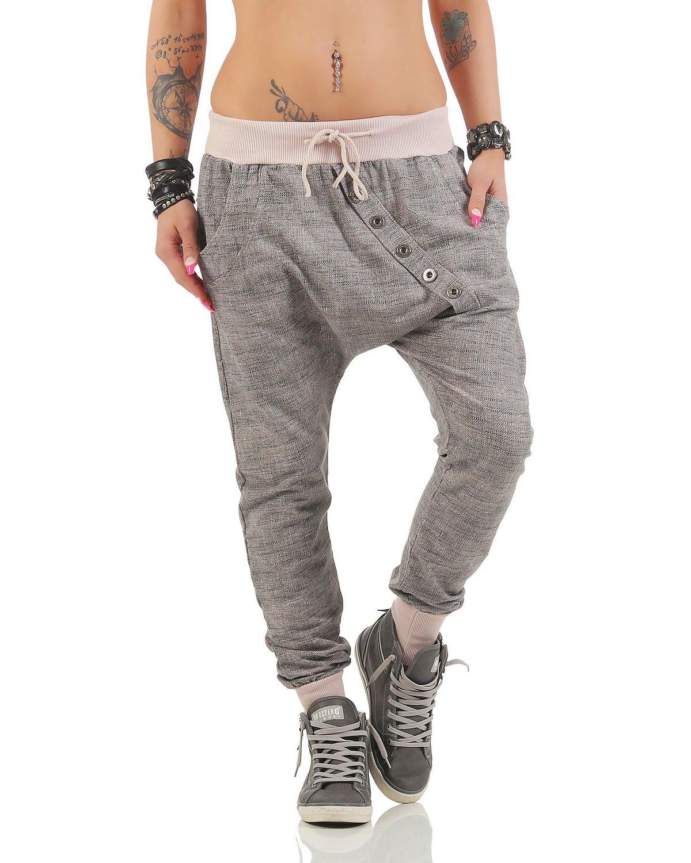 Moda Italy pantalones de chándal holgados pantalones novio de la ... 88d98557029d6