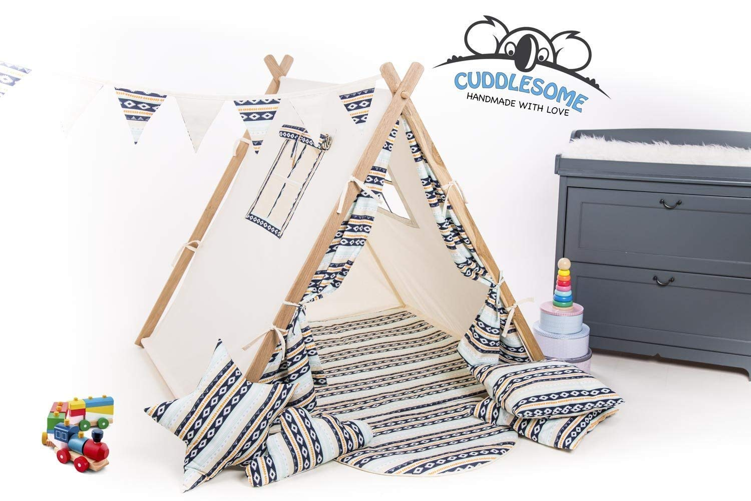 Geometric teepee tent playhouse for children by Cuddlesome