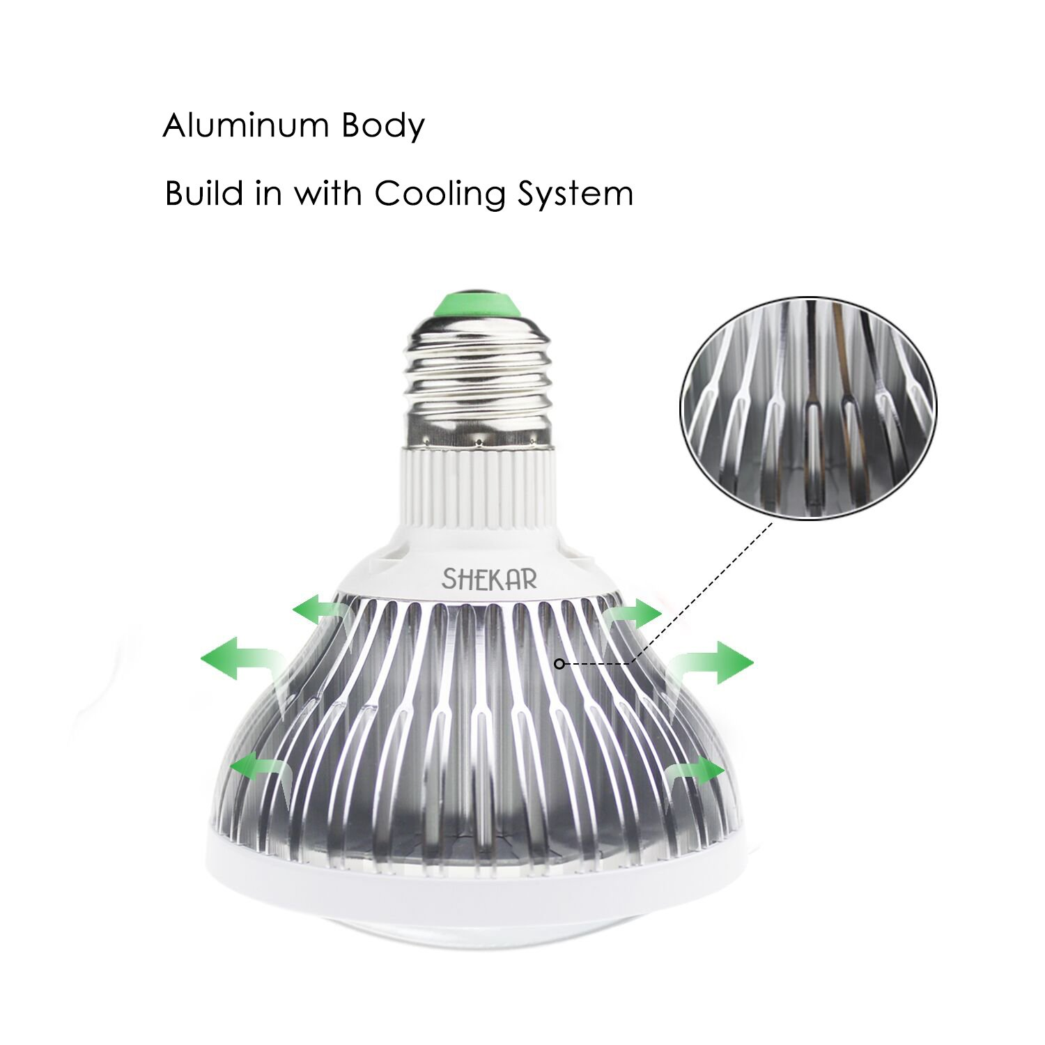 SHEKAR 50W Full Spectrum LED Plant Grow Light Bulb with Shield | Growing Lamp for Home, Indoor Garden Greenhouse and Hydroponic Aquatic (E27, 78LEDs) by SHEKAR (Image #3)