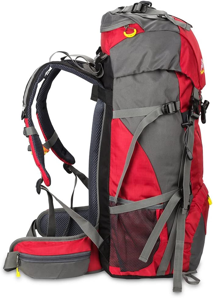 SKYSPER 50L Mochilas de Senderismo al Aire Libre Mochila de Senderismo Macutos Impermeable Ergon/ómica para Viajes Excursiones Acampadas Trekking