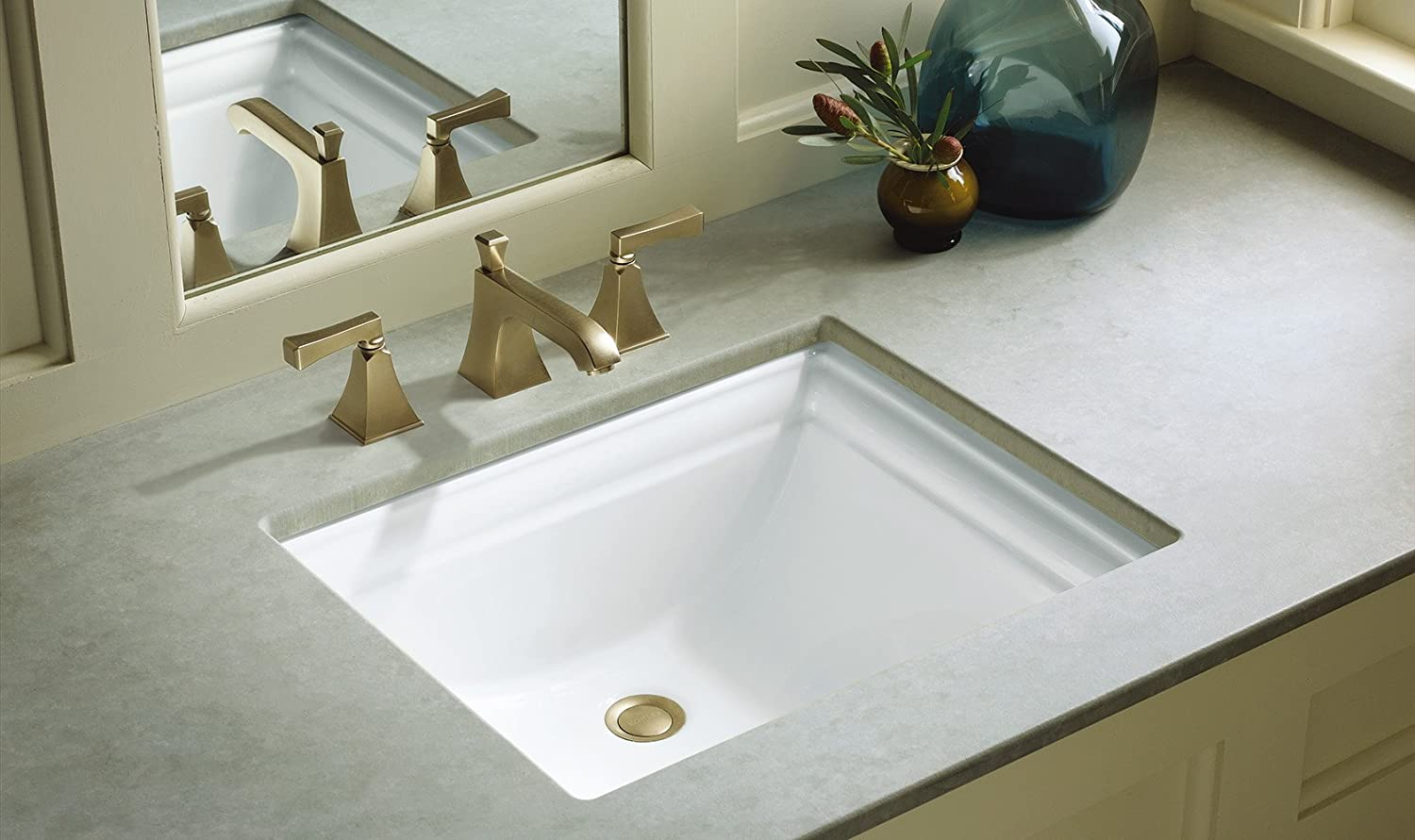 Delicieux KOHLER K 2339 NY Memoirs Undercounter Bathroom Sink, Dune   Vessel Sinks    Amazon.com