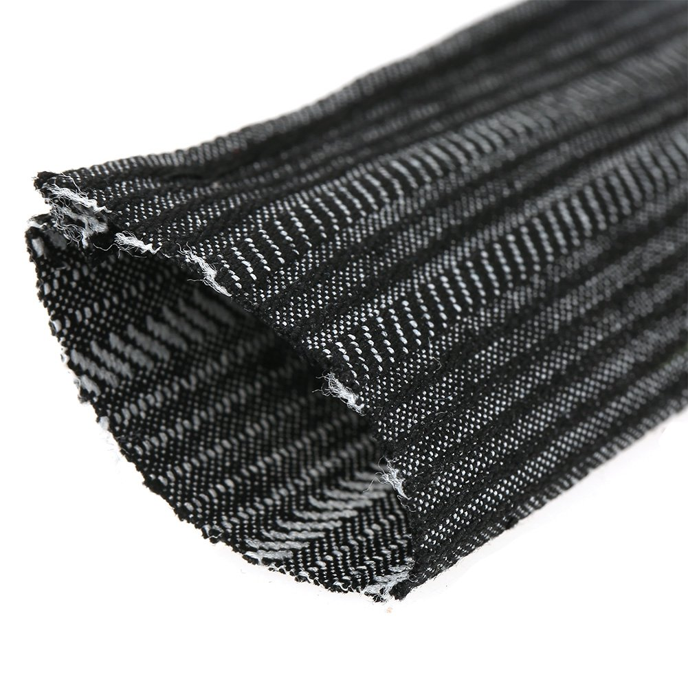 Nylon Protective Sleeve,7.5m Nylon Flexible Cable Cover,Wear-Resisting Flame Retardant for Welding Torch Hydraulic Hose