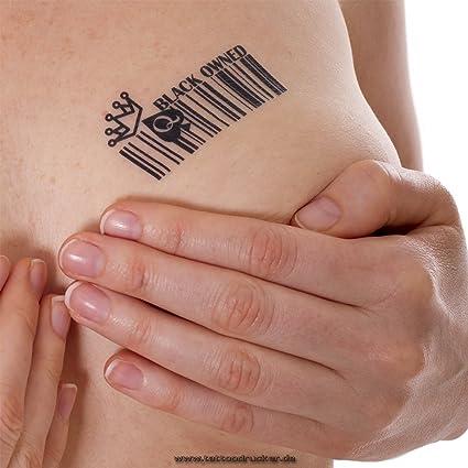 Negro propiedad Barcode Tatuajes Temporales fetiche BBC hotwife Reina de Picas