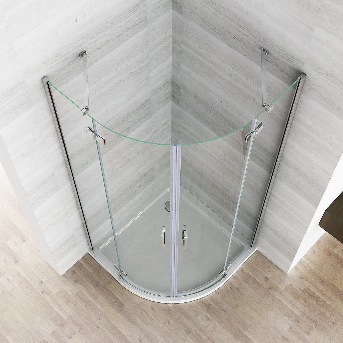 80 x 80 x 195 cm cabinas de ducha redonda ducha Cuadrante Mampara ...