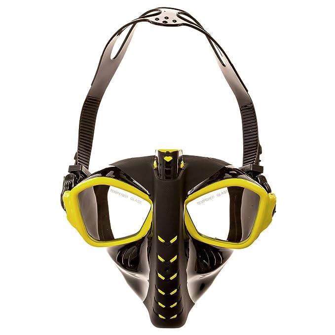 jojoo Alien máscara de snorkel para buceo y Snorkeling - Máscara de cara completa libre respiración Tubo de buceo ajustable con antivaho y diseño antifugas ...