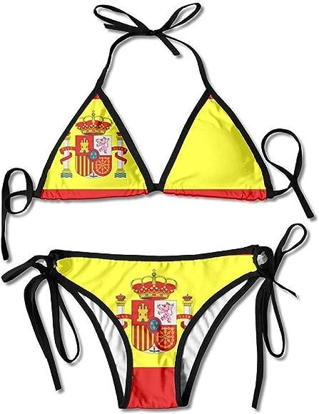 Traje De Baño, Bikini De Boxeo con Arnés Sexy De Bandera Española ...