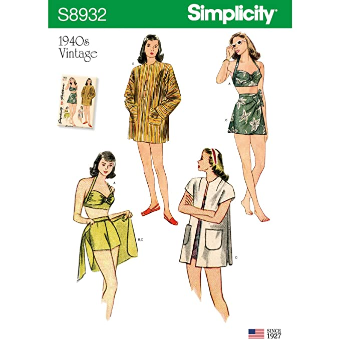 1940s Sewing Patterns – Dresses, Overalls, Lingerie etc Simplicity Sportswear-4-6-8-10-12 $14.25 AT vintagedancer.com