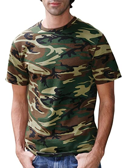 ... Code V Adult Camouflage T-Shirt (GREEN WOODLAND) (XL) at Amazon ... a7ee7c2c1603