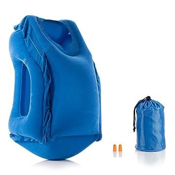 Schlafausrüstung 4x Nackenhörnchen Aufblasbar Reise Auto Flugzeug Kissen Nackenkissen Reisekissen Schnelle Farbe
