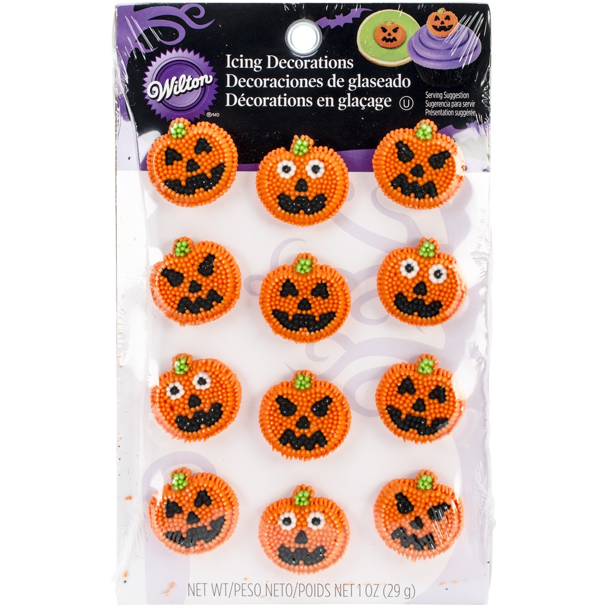 Wilton Icing Decorations (12 Pack), Funny Face W1484