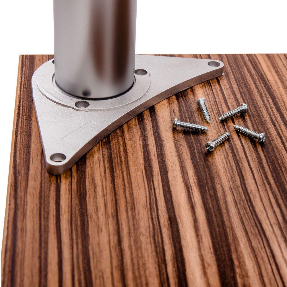 altezza 82cm Sossai/® TBAL set di 4 piedi per tavolo colore alluminio 820mm regolabile in altezza +2cm