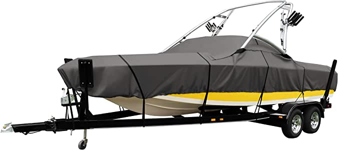 Classic Accessories StormPro Waterproof Heavy-Duty Ski & Wakeboard Tower Boat Cover, Fits boats 22 - 24 ft long, beam width to 116 in wide
