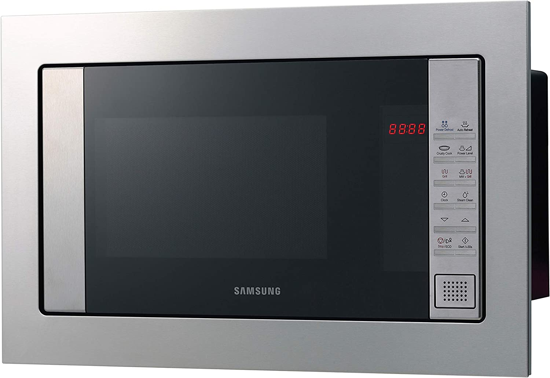 Samsung FG87SST/XEC Microondas de Integración Con Grill, 23 Litros de capacidad, Interior Cerámico Enamel, Potencia 800W/1100W, Acero Inoxidable, Sistema de ondas TDS, Limpieza Vapor Steam Clean: 196.5: Amazon.es: Hogar