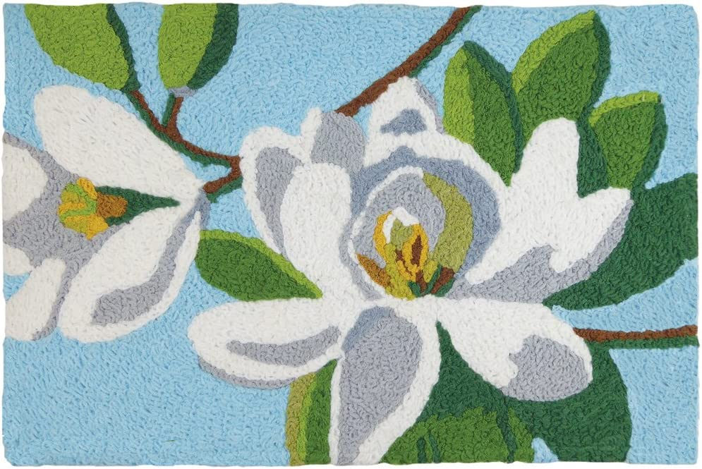 "Jellybean Magnolia Time Garden Indoor/Outdoor Machine Washable 21"" x 33"" Accent Rug"