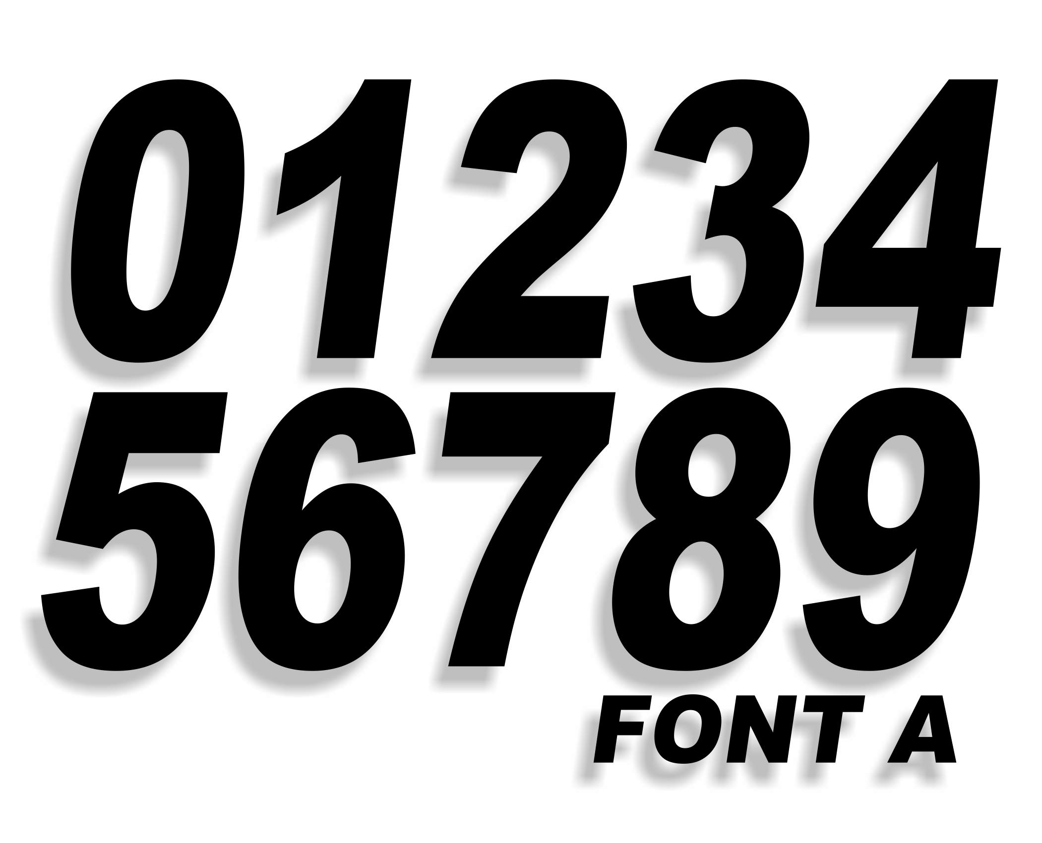 Mx & ATV Number Plate Decals | Set of 3 Decals With Your Custom Number, Color & Font Choice | 17 Colors & 26 Font Choices!