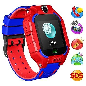 YENISEY Smartwatch Niños, Reloj Inteligente Niños con 1.44 Pantalla táctil Completa, Linterna, Llamada, SOS, Cámara, Juegos y Despertador, Regalo para ...