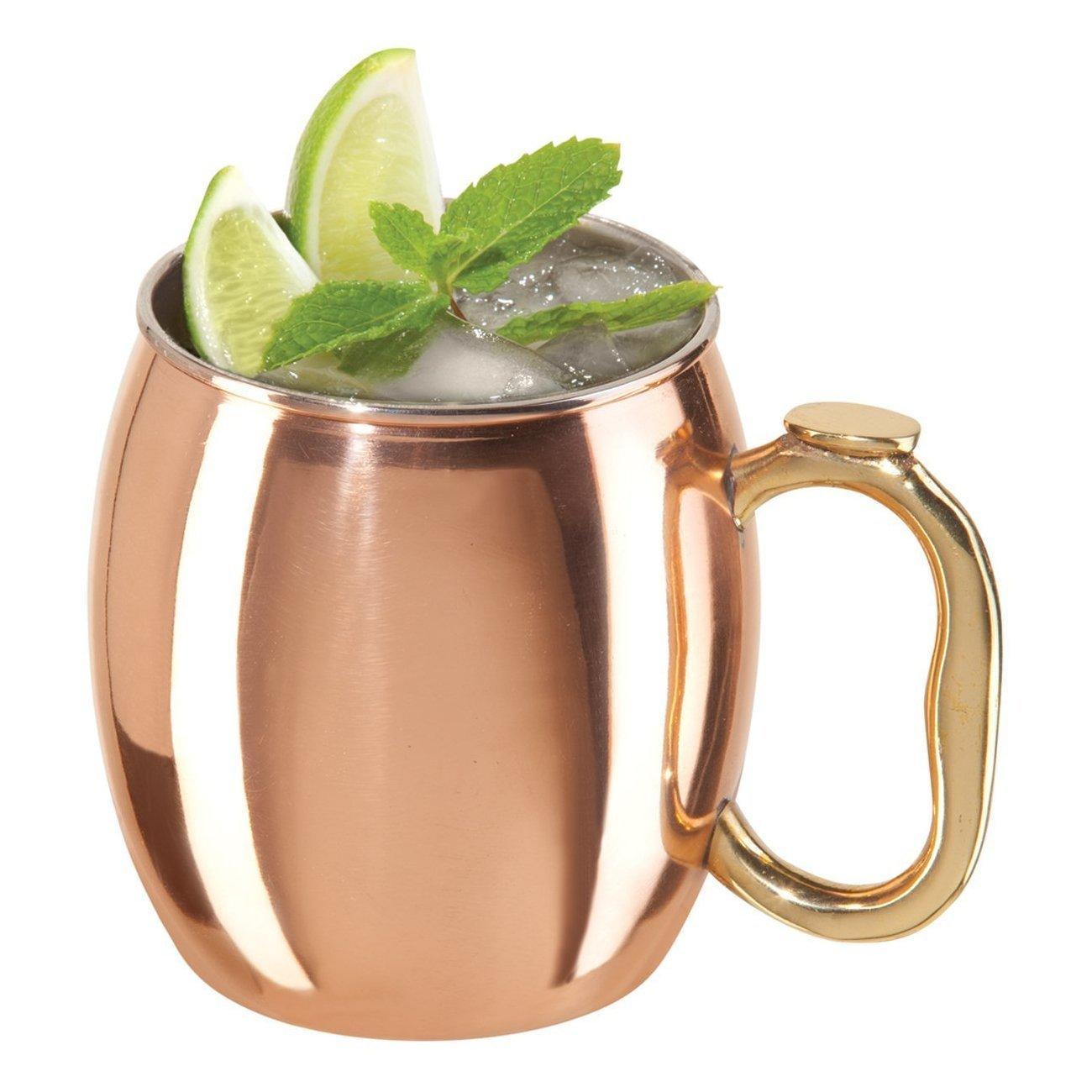 Oggi Moscow Mule Copper Mug, 20-Ounce, Set of 4 9007