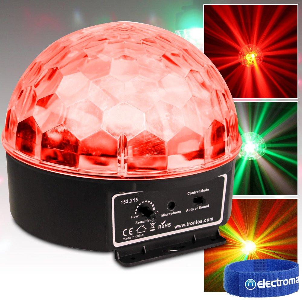 beamz Sound Reactive Disco Party LED Light Crystal Ball Star Effect RGBAW Lighting Tronios