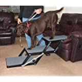 Amazon Com Pet Studio Pine Frame Dog Rampsteps 3 Step