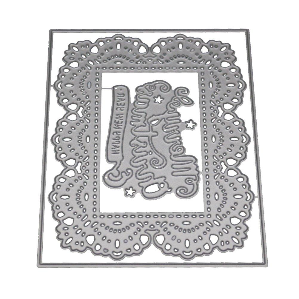 Healifty Taglio Muore Metallo Buon Natale Stencil Template Stampo per DIY Scrapbooking Album di nozze Mestiere di carta
