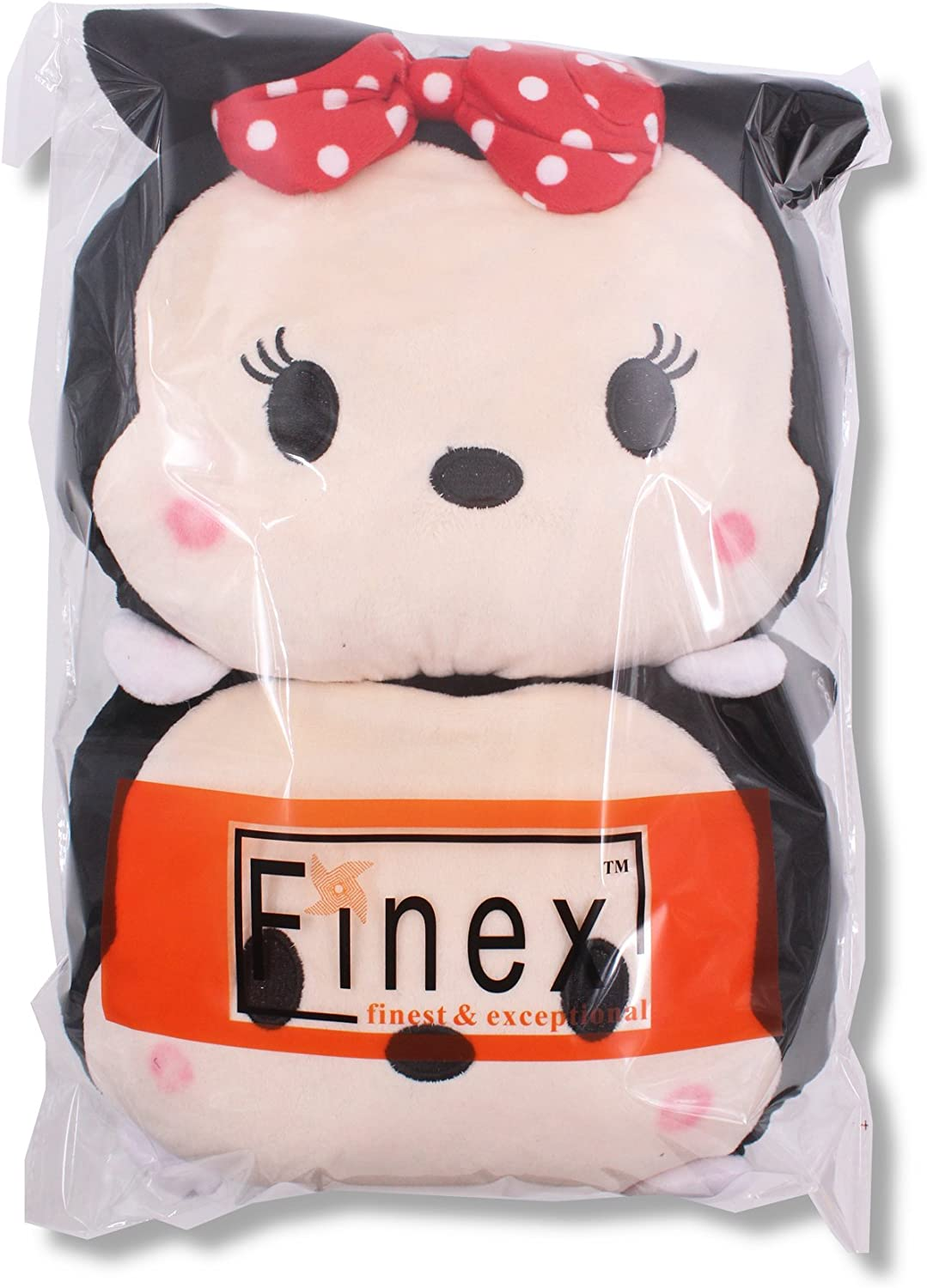 Finex Set of 2 Tsum Tsum Mickey Mouse Minnie Mouse Plush Neck Rest Head Support Cushion Pillow for Car Travel