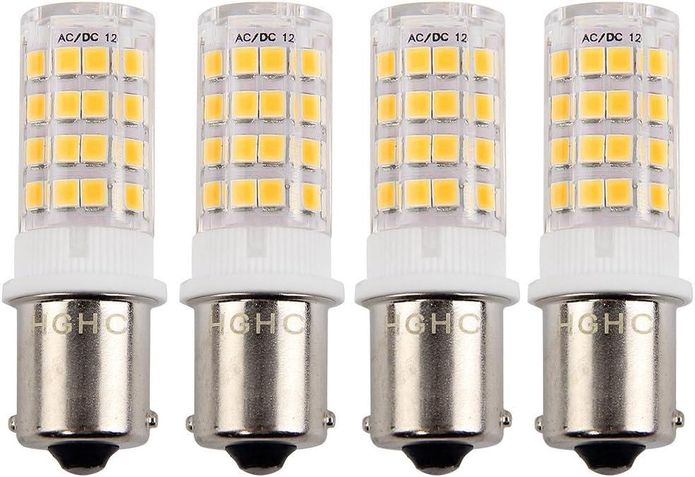 2-Pack 3 vatios BA15S LED bombilla lateral bombilla DC 12V c/álido blanco 3000 k solo contacto bayoneta SBC BA15S 1156 1141 1073 1093 1129 LED reemplazo para interior RV caravana barco iluminaci/ón