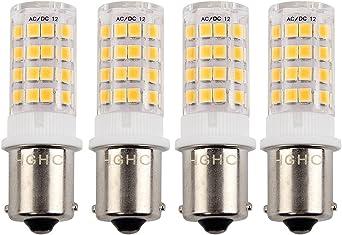 4 BBT Super Bright 12 v 22 White LED 1156 Landscape Light Bulbs