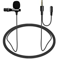Nicama LVM4 Pro Grade Lavalier Lapel Microphone Omnidirectional Mic with Windscreen Muff and 3.5mm Monitor Jack Perfect…