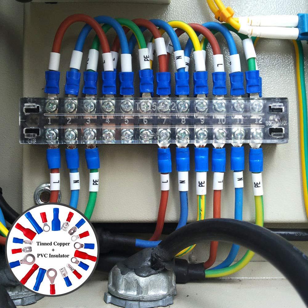 FORCELLA non isolati crimpare i terminali elettrici M3 M4 M3.5 M5 M6 M8