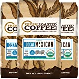 Mexican SWP Decaf Organic Coffee, Ground, Swiss Water Processed Decaf Coffee, Fresh Roasted Coffee LLC (Pack of 3)
